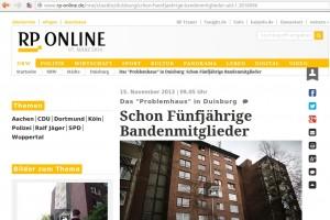 Berichterstattung in der Rhenischen Post © Screenshot/rp-online.de