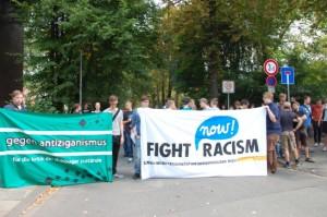 Kundgebung vor dem Duisburger Polizeipräsidium. © Initiative gegen Duisburger Zustände