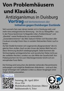 Zu Gast in Trier: Die Initiative gegen Duisburger Zustände. © AStA der Universität Trier