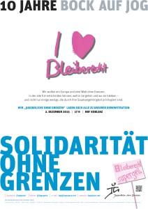 Solidarität ohne Grenzen - Plakat