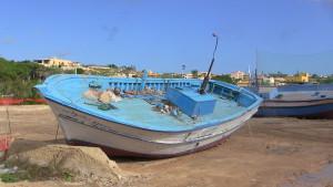 Schiffswrack in Lampedusa